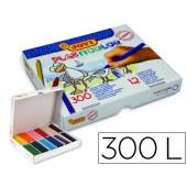 Lapis de cera jovi plasticor caixa de 300 unidades 25 cores sortidas