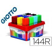 Marcador giotto turbo cor school pack de 144 unidades 12 cores x 12 unidades