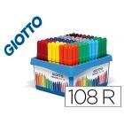 Marcador giotto turbo maxi school pack de 108 unidades 12 cores x 9 unidades