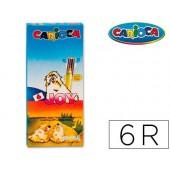 Marcador carioca joy caixa de 6 cores