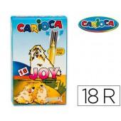 Marcador carioca joy caixa de 18 cores