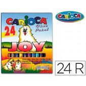 Marcador carioca joy caixa de 24 cores