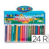 Marcador carioca joy cristal caixa de 24 cores