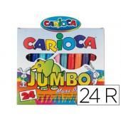 Marcador jumbo carioca 24 unidades