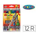 Marcador carioca birelo biponta caixa de 12 cores