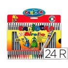 Marcador carioca birelo biponta caixa de 24 cores
