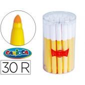 Marcador jumbo carioca. pote de 30 unidade amarelos