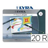 Marcador lyra hi-quality art pen de 20 cores -caixa metal