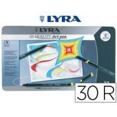 Marcador lyra hi-quality caixa metalica 30 cores