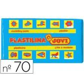 Plasticina jovi 70 pastilha 50 grs azul claro