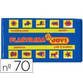 Plasticina jovi 70 pastilha 50 grs azul-escuro