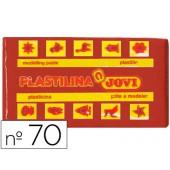 Plasticina jovi 70 pastilha 50 grs castanho