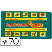 Plasticina jovi 70 pastilha 50 grs verde-escuro