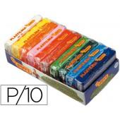 Plasticina jovi barra 10 cores sortidas de 50 grs
