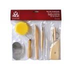 Instrumentos de modelar argila sio composto por 8 pecas