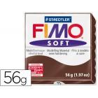 Pasta para modelar staedtler fimo soft 56 gr cor chocolate