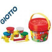 Pasta giotto bebe para modelar cubo maxi com acessorios dermatologicamente testado