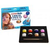 Maquilhagem liquida conjunto de 8 cores sortidas mais pincel