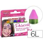 Barra maquilhagem alpino set de maquilhagem princess 6 cores