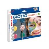 Set giotto make up sombra cosmetica +pincel+esponja+guia maquilhagem