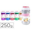 Purpurina liderpapel fantasia cores metalicas sortidas frasco de 250 gr