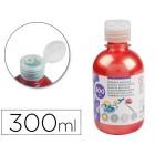 Guache escolar liderpapel 300 ml vermelho metalizado