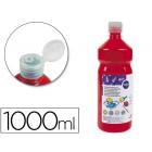 Guache escolar liderpapel 1000 ml vermelho escarlate