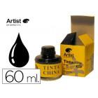 Tinta china artist preta frasco de 60 ml