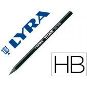 Lapis lyra de grafico titan grafite puro hb