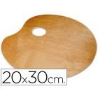 Paleta de madeira lidercolor oval para esquerdinos