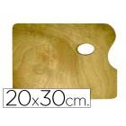 Paleta de madeira artist rectangular tamanho 20 x30 x 0.05 cm