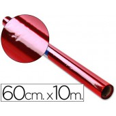 Papel celofane 60 cm x 10 mt. 30 grs/m2. vermelho