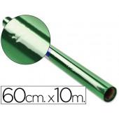 Papel celofane 60 cm x 10 mt. 30 grs/m2. verde