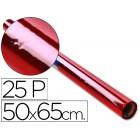 Papel celofane sadipal 50 x 65 cm. 20 grs/m2. vermelho