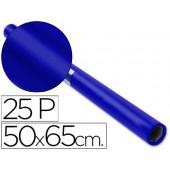Papel lustro sadipal. 50 x 65 cm. 65 grs/m2. azul