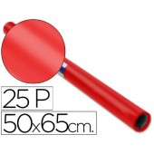 Papel lustro sadipal. 50 x 65 cm. 65 grs/m2. vermelho