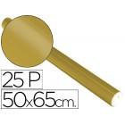 Papel metalizado sadipal 50 cm x 65 cm. 65 grs/m2 dourado