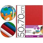 Cartao ondulado liderpapel 320grs. 50x70 cm -vermelho
