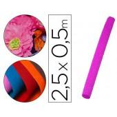 Papel crepe liderpapel 50 cm x 2.5 m 34g/m2 rosa fluorescente