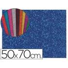 Goma eva com purpurina liderpapel 50x70cm 60g/m2 espessura 2mm azul escuro