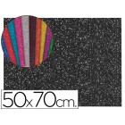 Goma eva com purpurina liderpapel 50x70cm 60g/m2 espessura 2mm preto
