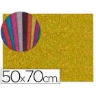 Goma eva com purpurina liderpapel 50x70cm 60g/m2 espessura 2mm ouro