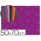 Goma eva com purpurina liderpapel 50x70cm 60g/m2 espessura 2mm violeta