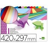 Bloco trabalhos manuais liderpapel cartolina din-a310 folhas 180 gr cores sortidas