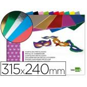 Bloco trabalhos manuais liderpapel cartolina metalizada 210x297 mm 10 f 250gr cores sortidas
