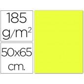 Cartolina 185 grs 50x65 cm. guarro. amarelo limao