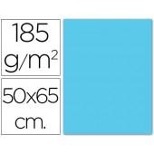 Cartolina 185 grs 50x65 cm. guarro. azul ceu
