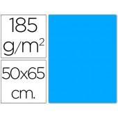 Cartolina 185 grs 50x65 cm. guarro. azul maldivas
