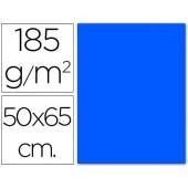 Cartolina 185 grs 50x65 cm. guarro. azul mar