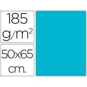Cartolina 185 grs 50x65 cm. guarro. azul turquesa